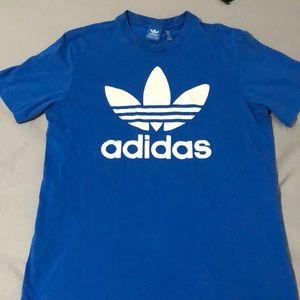 Blue Adidas tee shirt
